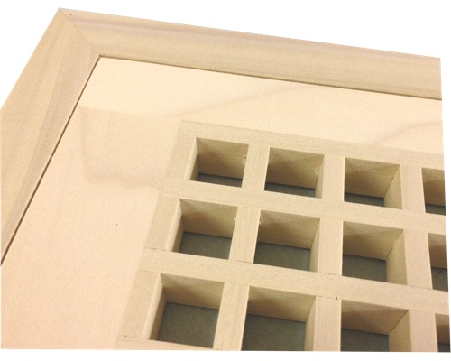 Egg Crate Flush Mount Poplar (Paint Grade) Floor Grate Vents
