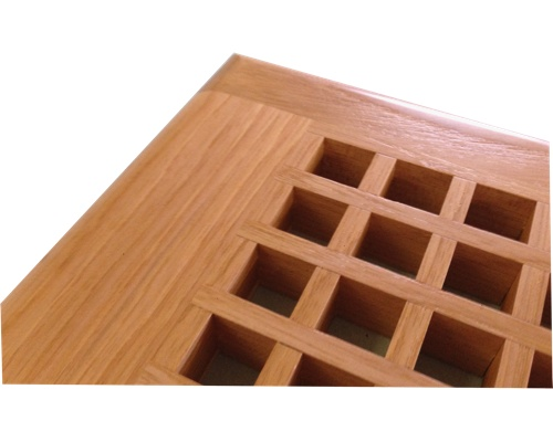 Egg Crate Self Rimming Hickory Floor Grate Vents