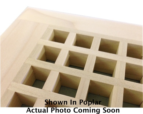 Egg Crate Self Rimming African Mahogany Floor Grate Vents