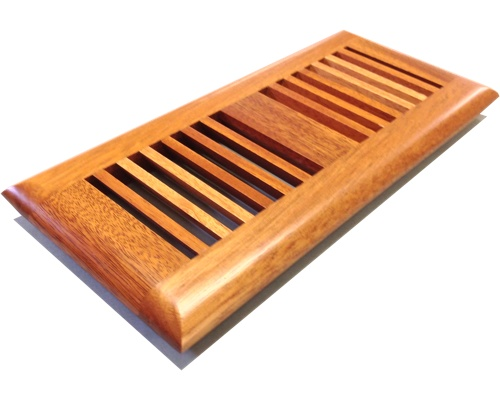 Self Rimming African Mahogany Wood Floor Vents